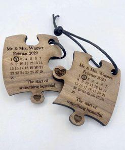 Schlüsselanhänger Nussbaum