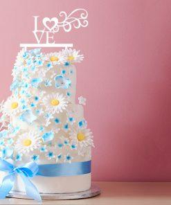 Kuchenstecker LOVE mit Ornament aus MDF oder Acryl