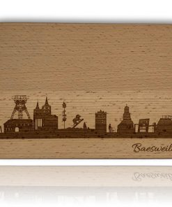 """Frühstücksbrett mit der Skyline """"Baesweiler"""""""