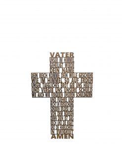 Vaterunser-Kreuze (26x18cm) auf deutsch und weitere verschiedene Sprachen!