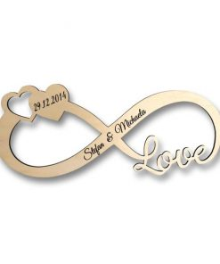 Infinity / Unendlichkeit Symbol mit Love und individueller Gravur
