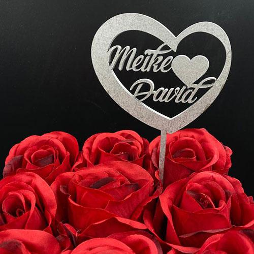 Herzstecker Valentinstag