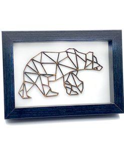 3D Bär in Rahmen
