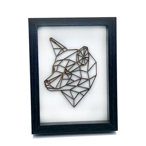 Bärenkopf 3D im Rahmen