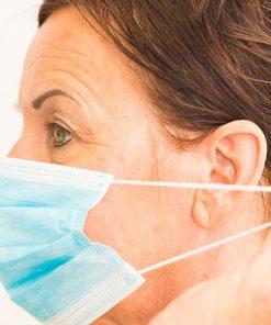 Mundschutzmaske blau