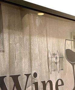 Weinkorken-Keeper Rahmen mit Text