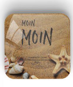 "Riesen Magnet aus Glas ""Moin Moin"""