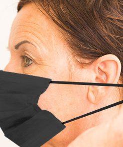 Einwegmaske schwarz