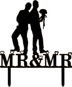 Kuchenstecker Mr. & Mr. Arcyl schwarz
