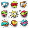 Comic Glassart Sprechblasen Pop Art