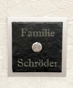 Türschild - Schieferplatte (klein)