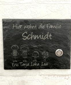 Türschild - Schieferplatte (mittel)
