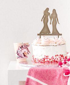 Kuchenstecker lesbische Liebe MDF oder Acryl