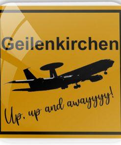 """Kühlschrankmagnet """"Geilenkirchen - Up, up and away"""""""