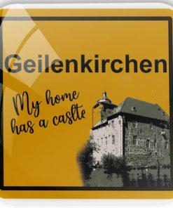 """Kühlschrankmagnet """"Geilenkirchen - My home has a castle"""""""