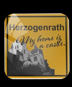 """Kühlschrankmagnet """"Herzogenrath - My home is a castle"""""""