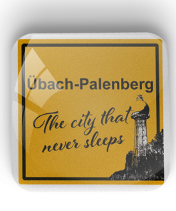"Kühlschrankmagnet ""Übach-Palenberg - The city that never sleeps"""