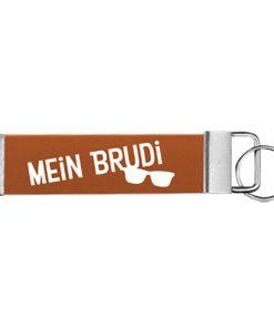 """Schlüsselanhänger Biothane® """"Mein Brudi"""""""