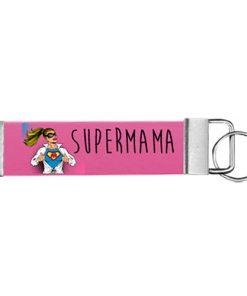 """Schlüsselanhänger Biothane® """"Super Mama"""""""