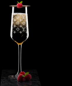 Champagnerglas/Sektglas mit LV Gravur