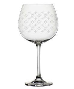 "Gin Glas mit Gravur ""LV"""