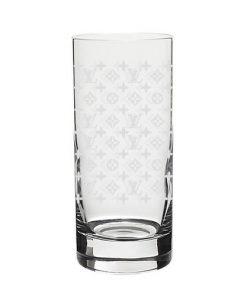 """Longdrink Glas mit der Gravur """"LV"""""""